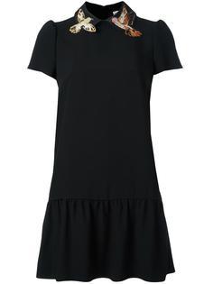 платье с аппликацией птиц Red Valentino