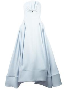 cut-off detail flared gown Maticevski