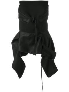 strapless asymmetric blouse Maticevski