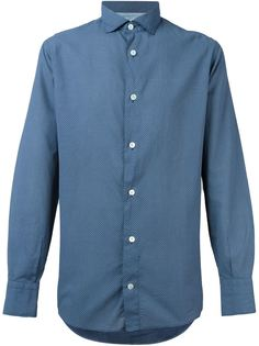 рубашка с мелким узором в горох Eleventy