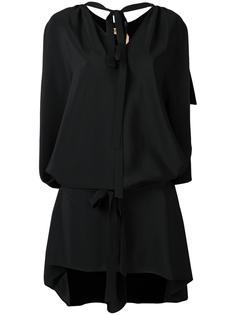 платье-рубашка с завязками на шее Nº21