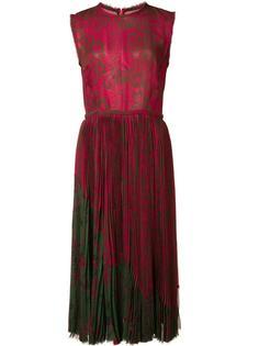 плиссированное платье с цветочным рисунком Jason Wu