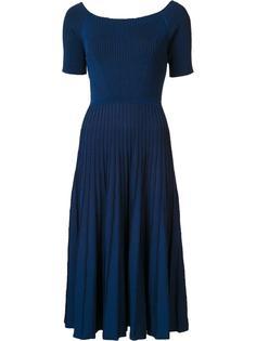 расклешенное платье в рубчик Jason Wu