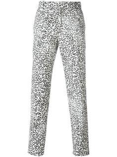 leopard print trousers Alexander McQueen