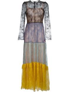 расклешенное полупрозрачное кружевное платье Philosophy Di Lorenzo Serafini
