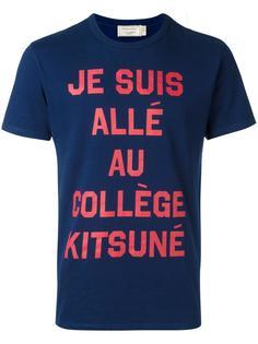 футболка College  Maison Kitsuné