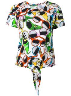футболка с принтом солнцезащитных очков Moschino Swim
