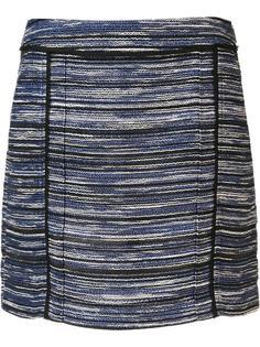 полосатая меланжевая мини-юбка Jason Wu