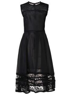 расклешенное платье с кружевными вставками Jason Wu