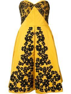 платье-бюстье с вышивкой Oscar de la Renta