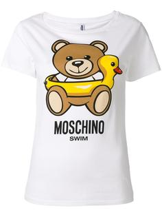футболка с принтом медведя Moschino Swim