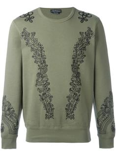embroidered sweatshirt Alexander McQueen