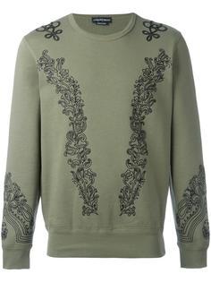 embroidered sweatshirt Alexander McQueen