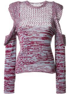 ажурная блузка с декоративными вырезами Philosophy Di Lorenzo Serafini