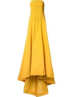 расклешенное вечернее платье-бюстье Oscar de la Renta