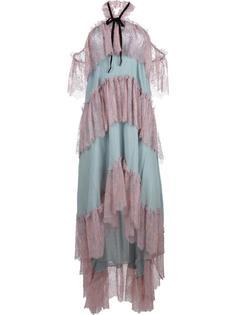 многоярусное платье с вырезом-халтер Philosophy Di Lorenzo Serafini