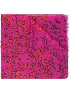 шарф с лиственным принтом Oscar de la Renta