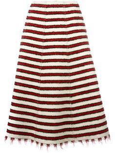 полосатая вязаная юбка А-образного силуэта Philosophy Di Lorenzo Serafini