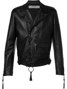 Giorgio De Chirico biker jacket Off-White