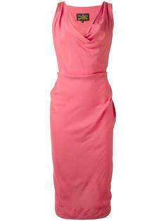 draped neck fitted dress Vivienne Westwood Anglomania