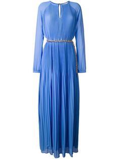 длинное плиссированное платье Michael Michael Kors