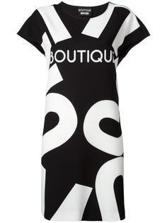 платье-футболка с принтом логотипа Boutique Moschino