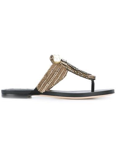 сандалии с вышивкой Alberta Ferretti