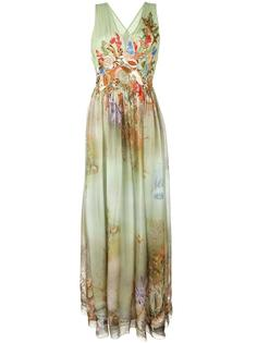 расклешенное вечернее платье Alberta Ferretti