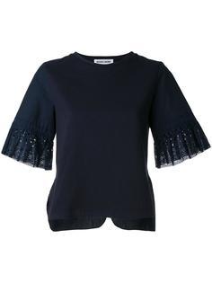 футболка с ажурными манжетами Muveil