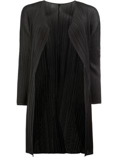 pleated open midi coat Pleats Please By Issey Miyake
