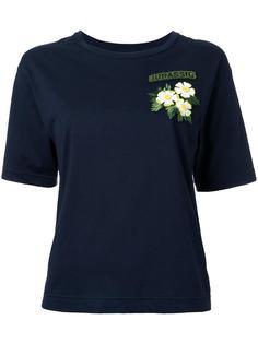 футболка с цветочной заплаткой Muveil