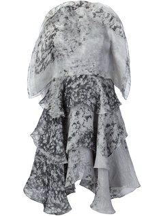 платье с крапчатым рисунком Christian Siriano