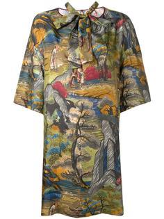 forest print shift dress Antonio Marras