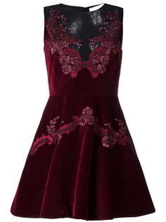 платье с кружевными вставками Zuhair Murad