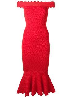 облегающее платье с открытыми плечами Jonathan Simkhai