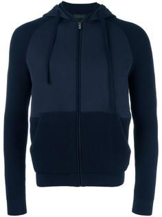 panelled zipped hoodie Z Zegna