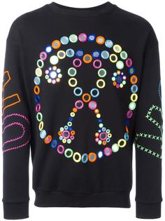 mirror embroidered sweatshirt Moschino