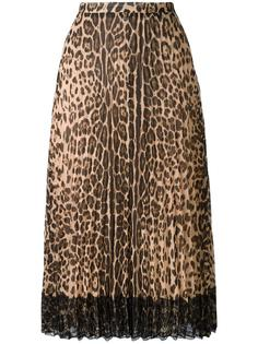 леопардовая юбка А-образного кроя Red Valentino