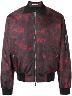 abstract print bomber jacket Dior Homme