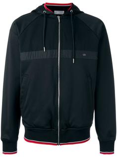 striped detail hooded jacket Dior Homme