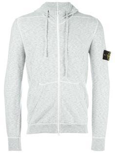 kangaroo pockets zipped hoodie Stone Island