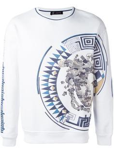 Greca Medusa side print sweatshirt Versace