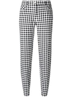 checked slim-fit cropped trousers Blumarine