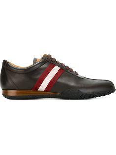 кроссовки с контрастными полосками   Bally