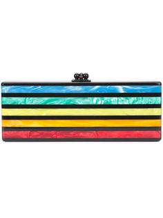striped clutch Edie Parker