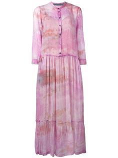 shirred waist midi dress Raquel Allegra