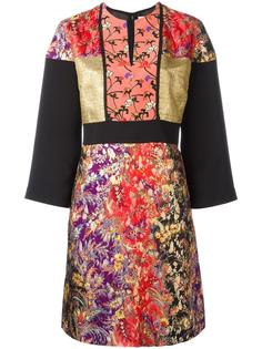 жаккардовое платье с цветочным узором Etro