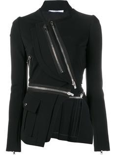 асимметричный пиджак с молниями Givenchy