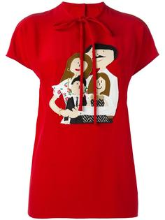 футболка с аппликацией Family Dolce & Gabbana
