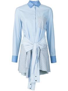 платье-рубашка с завязками на талии Derek Lam 10 Crosby